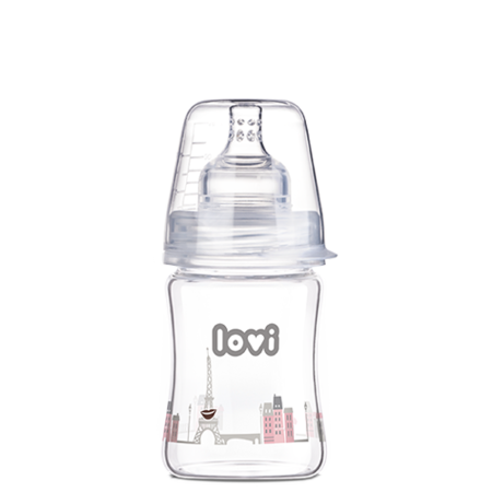LOVI Diamond Glass Bottle 150 ml Retro Baby Girl