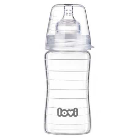 LOVI Diamond Glass Bottle 250 ml Pure