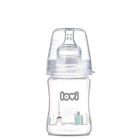 LOVI Diamond Glass Bottle 150 ml Retro Baby Boy