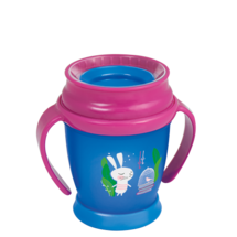 LOVI 360° Cup Mini 210 ml Follow the Rabbit Girl