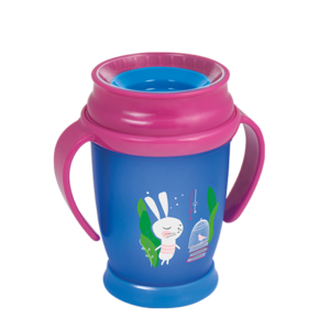 LOVI 360° Cup Junior 250 ml Follow the Rabbit Girl