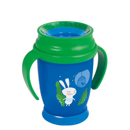 LOVI 360° Cup Junior 250 ml Follow the Rabbit Boy
