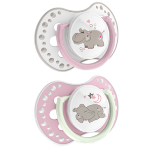 LOVI Silicone Dynamic Soother 0-3m 2 pcs Night&Day Girl