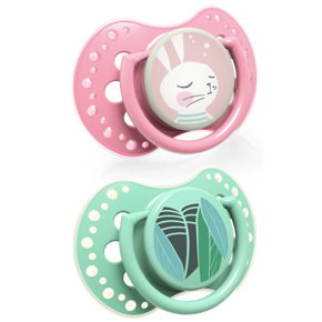 LOVI Silicone Dynamic Soother 0-3m 2 pcs Follow the Rabbit Girl